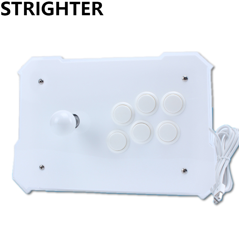 White Arcade Joystick Pc Controller Computer Game Joystick Usb Connector New King of Fighters Joystick Consoles pandora s box arcade joystick for ps3 controller computer game arcade sticks new street fighters joystick consoles