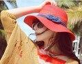 Al por mayor y Al Por Menor Moda Mujeres accesorios de moda Grande Ancho Brim Floppy Summer Beach Sun Straw Hat Cap Envío Gratis