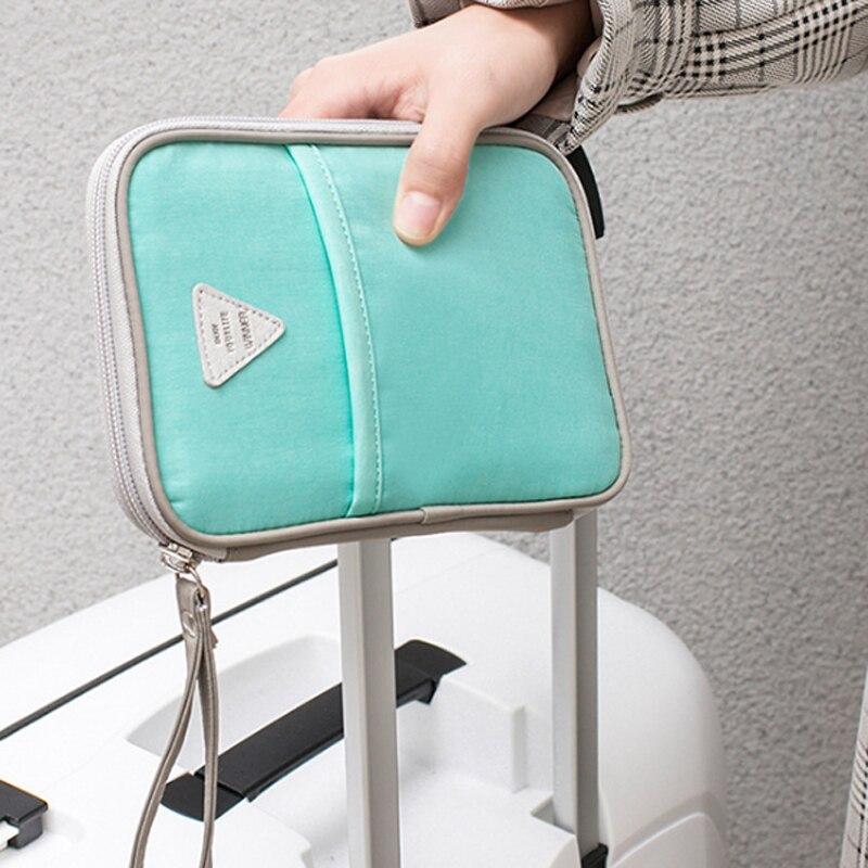 YIFANGZHE Passport Wallet, Premium Nylon Cards&ID Storage Small Bags,Travel Waterproof Holder Credit Card Document Organizer