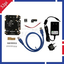 X820 2.5 inch SATA HDD/SSD Storage Expansion Board Kit with DC 5V 4A Power Adapter EU/US Plug for Raspberry Pi 3 Model B/ 2B /B+