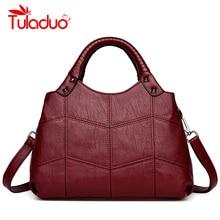 Designer Womens Bag Artificial Leather Handbags Knitting Black Ladies Shoulder Bags Small Women 2018 Totes Messenger Bags bolsa