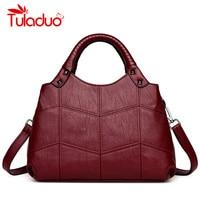Designer Womens Bag Artificial Leather Handbags Knitting Small Black Ladies Shoulder Bags Women 2018 Totes Messenger