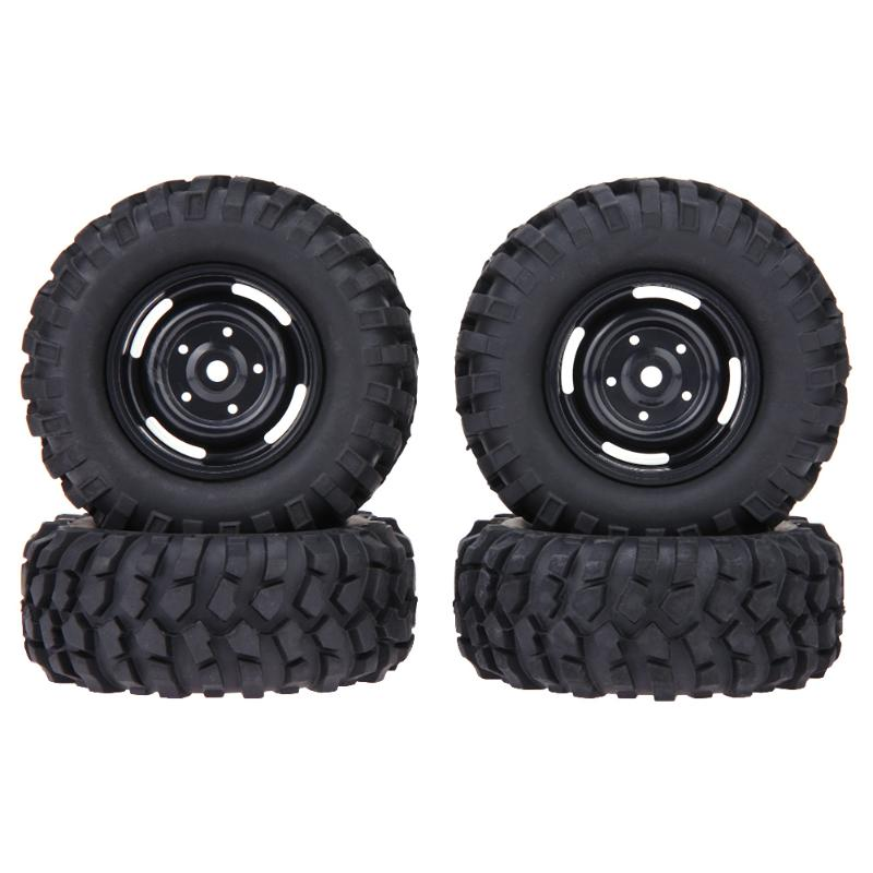 Natural Rubber RC Climbing Car Tires for 1/10 Car D90 Axial SCX10 96mm Rubber Tyre Wheel Rim Accessories 4PCS 4pcs rubber rc racing tires car on road wheel rim fit for hsp hpi 1 10 high quality rc car part diameter 68mm tires