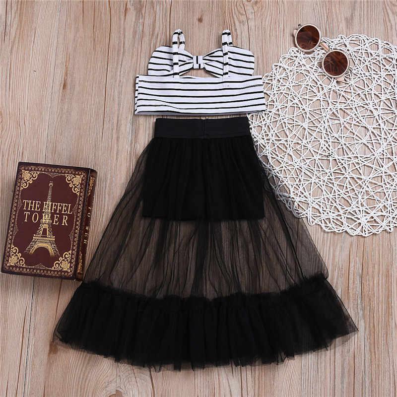 1bde5994bbeba Summer Sleeveless Crop Tops Tassel Lace Camouflage Skirt Girls ...