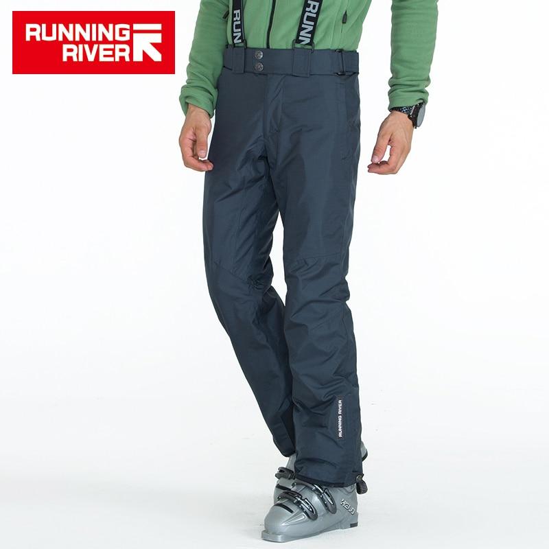 RUNNING RIVER Brand Men Winter font b Ski b font Pants With Shoulder Straps 3 Colors