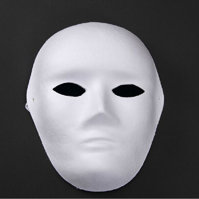 Blanco sin pintar blanco cara mascarada máscara mujeres hombres ...