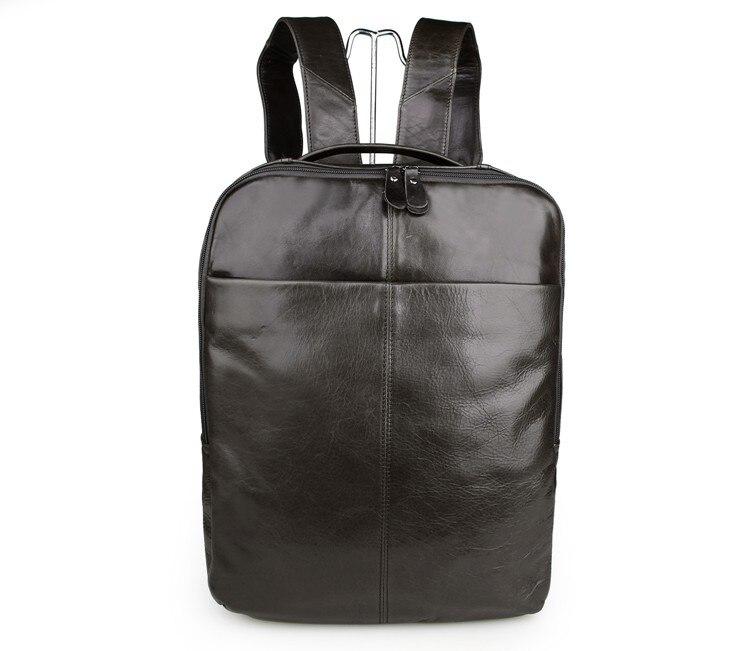 лучшая цена 100% Real Leathe Backpack Unisex School Backpacks Bag For Man 7280J