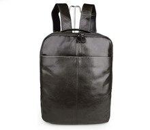 лучшая цена Free Ship 100% Real Leathe Backpack Unisex Outdoor Sport School Backpacks Bag For # 7280J
