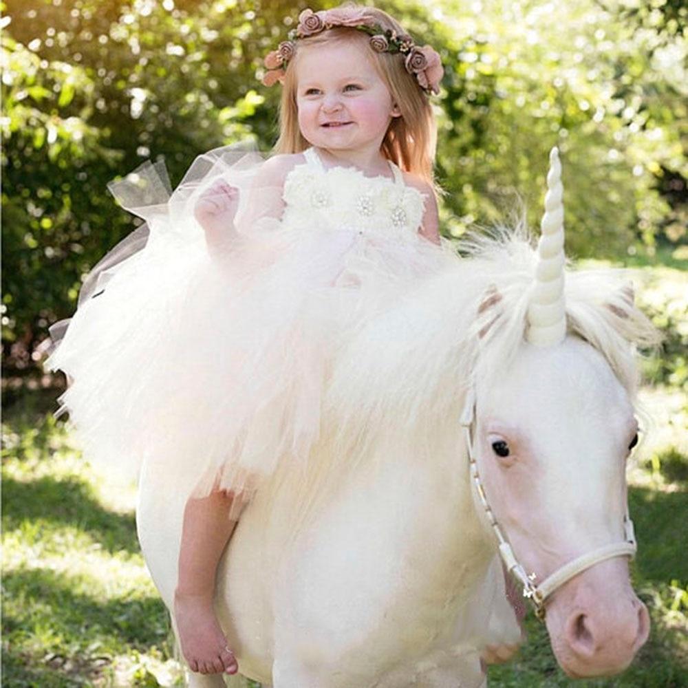 6 Colors Shabby Flower Girl Rhinestones Wedding Tutu Dress Elastic Lace Girl Stretchy Crochet Tulle Tutu Dresses For Birthday