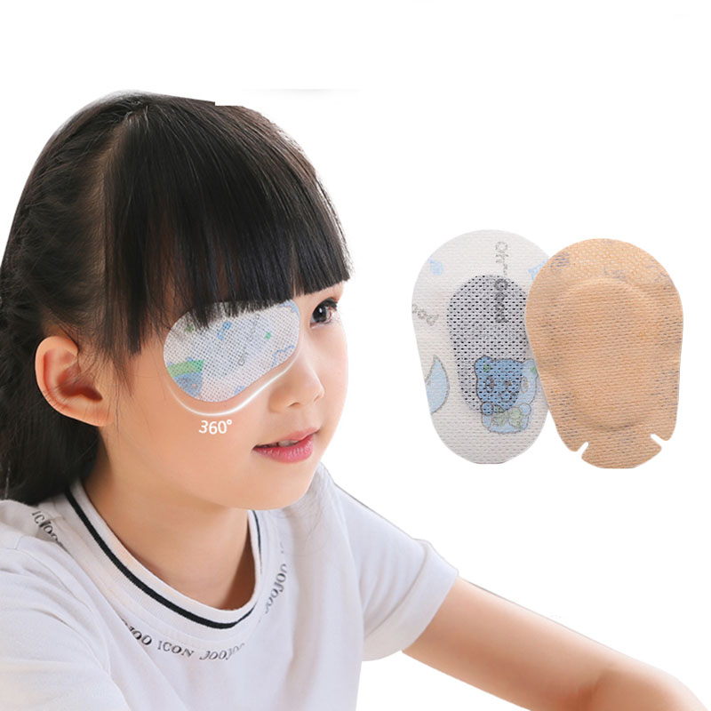 20 Pcs Breathable Eye Patch Band Aid Medical Sterile Eye Pad Adhesive Bandages First Aid Kit Children Kids Eye's Film Dressing 5 5cm 8p 50pcs lot sterile gauze swabs sterile gauze pad wound dressing pad for hospital first aid kit free shipping