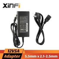 XinFi 12V5A AC 100V 240V Converter Adapter DC 12V 5A 5000mA Power Supply EU US AU