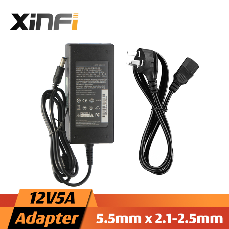 Xinfi 12v5a Ac 100v-240v Converter Adapter Dc 12v 5a 5000ma Power Supply Eu/us/au 5.5mm X 2.1-2.5mm For Led Cctv Led Lcd Monitor A Great Variety Of Models Video Surveillance Security & Protection