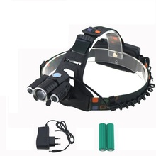 Waterproof Rechargeable 6000Lumen bicycle Light LED Adjustable Cycling HeadLight 18650 Battery Outdoor hunting fishing Camp Lamp