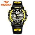 Diseño de marca de los hombres relojes reloj digital de deporte de los hombres led digital al aire libre reloj impermeable relogio masculino hd003
