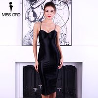 Missord 2016 Sexy Bra Sleeveless Halter VELVET Dress FT4924