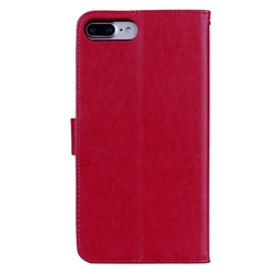 For Fundas iPhone 8 Plus Cover Leather Case Flip Cover For Coque iPhone8Plus Rose Floral Case For Case iPhone 8 Plus Phone Etui 3