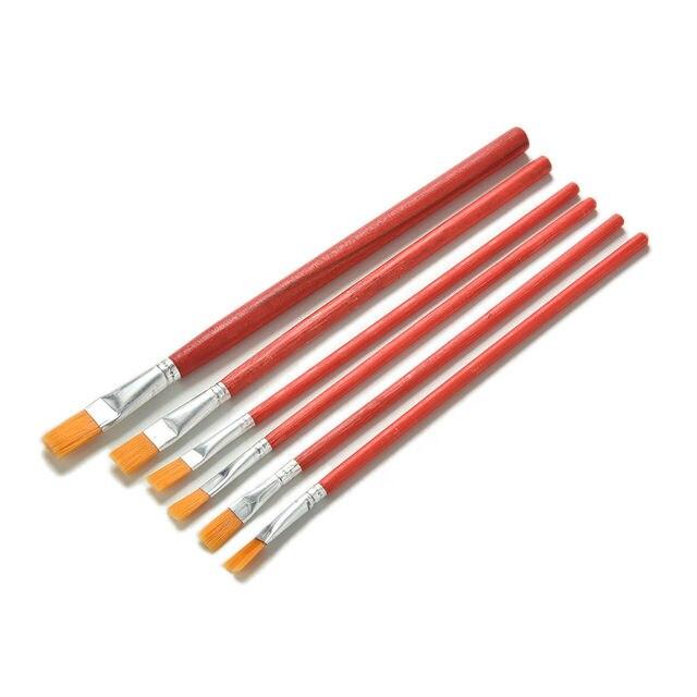 6 unids/set pincel de pelo de nailon de pintura al óleo de acrílico de acuarela suministros al por mayor