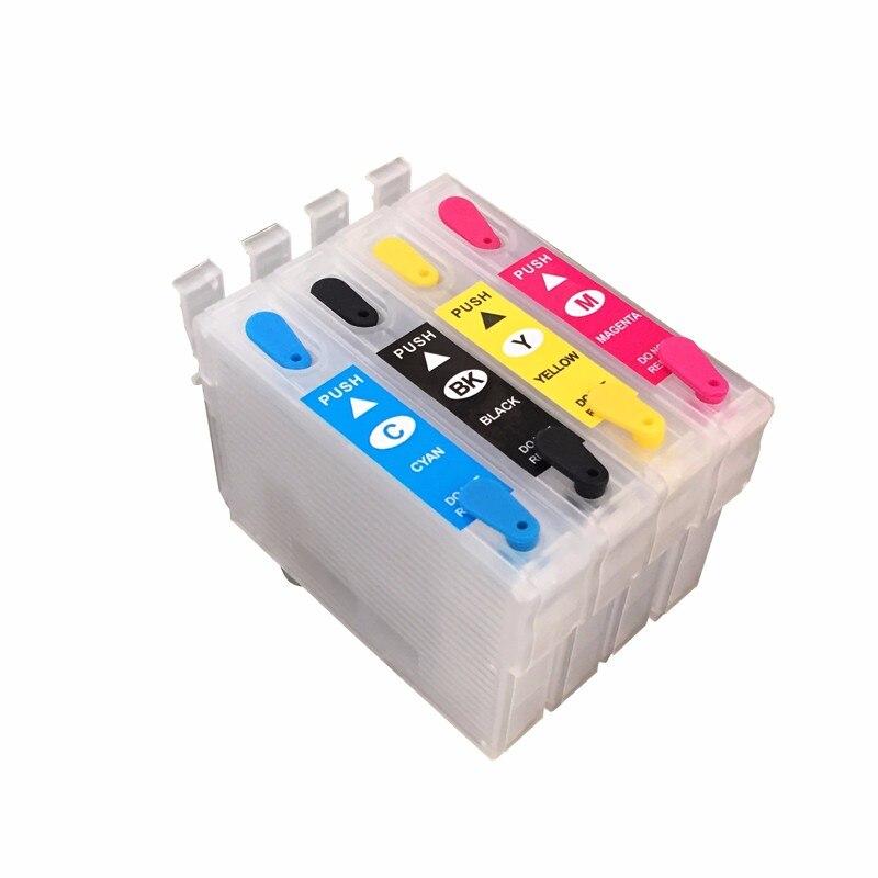 1 satz t0711 nachfüllbare tintenpatrone für epson stylus d120/d78/d92/dx4000/dx4050/dx4400/dx4450 t0711 t0712 t0713...