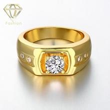 2017 New Design Material Gold/Rose Gold/White Gold Color Fashion Brand Ring Men's Wedding Figure Ring