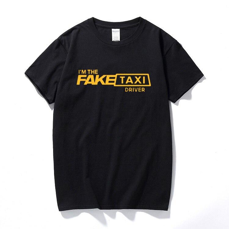 VHORZ Fresco Mens Camiseta Falso Motorista de Táxi Regular T-Shirt Tshirt à luz do Sol 100% Roupas de Algodão Dos Homens da Qualidade Superior
