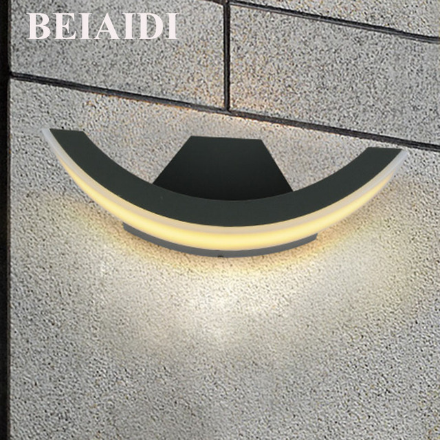 BEIAIDI Modern 8W LED Wall Lamps Outdoor Waterproof Wall Lamp Garden Lights Living Room Light Aisle Background Stairs Sconce new