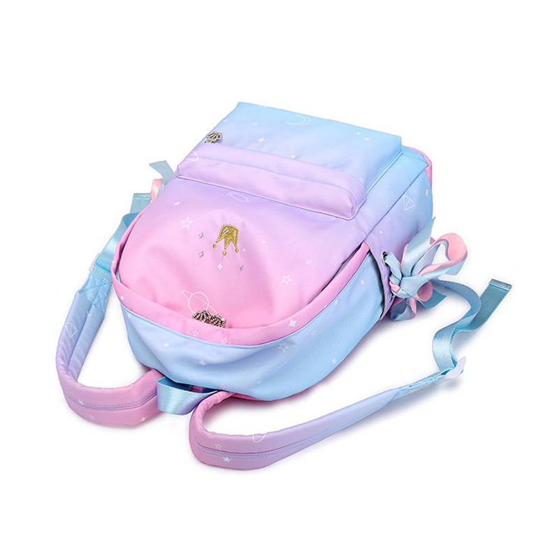 Image 4 - Starry Sky Backpacks For Girls School Children Schoolbags Primary School Book Bag School Bags Women Backpack Sac Ecolier Pink-in School Bags from Luggage & Bags