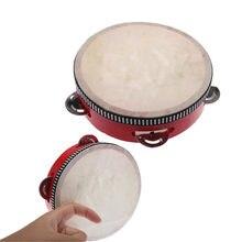 Tambor infantil para bebês, mini tambor, instrumento musical para crianças, brinquedo educacional, instrumento de batimento à mão, melhor presente