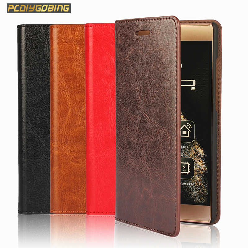 Luxury Genuine Leather Wallet Flip Cover Retro Leather Case For Huawei Honor 7 8 Lite 5C 5X 6X GR5 2017 P9 P10 Plus P8 Lite 2017