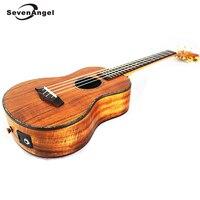 SevenAngel 26 тенор Электрический Укулеле все из массива дерева 4 strings Гавайская гитара сладкий акации КоА Ukelele с пикап EQ