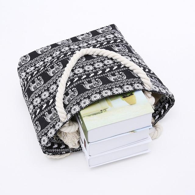 Women Canvas Beach Bag Fashion Color Stripes Printing Handbags Ladies Large Shoulder Bag Totes Casual Shopping Bags 5