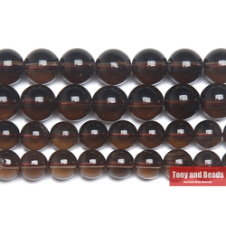 Free Shipping Natural Stone AA quality Smooth Smokys Quartz Loose Beads 15