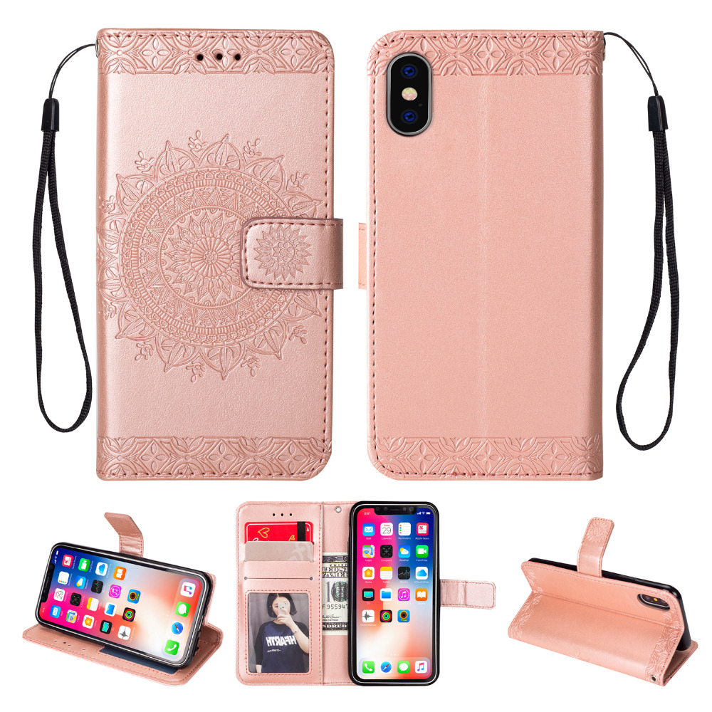 Luxury Wallet PU Leather Flip Case For iphone 6 7 8 Plus X 10 XS MAX