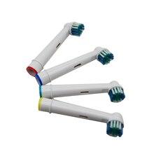 4 adet elektrikli diş fırçası başı oral b elektrikli diş fırçası yedek fırça başkanları diş temizliği için