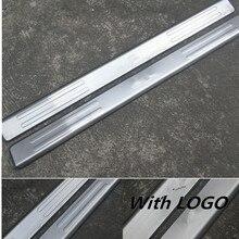 Стильное покрытие из нержавеющей стали для автомобиля, накладки для порогов автомобиля 2 шт./компл. автомобильные аксессуары для Fiat 500 2010 2011 2012 2013