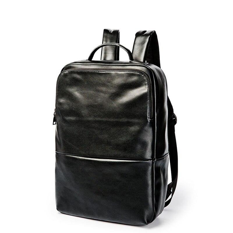 Корейская мода мужской кожаный рюкзак младших школьников сумка для отдыха и путешествий сумка-рюкзак