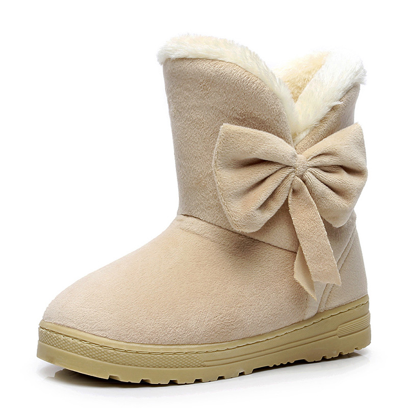 Fashion Women winter fashion solid snow boots female ankle boots with fur super warm boot woman casual shoes botas femininas winter woman boots lace up ladies flat ankle boot casual round toe women snow boots fashion warm plus cotton shoes st903