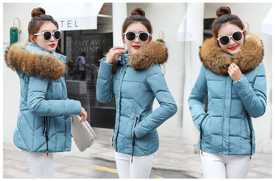 HTB1vo0wFHuWBuNjSszgq6z8jVXap 2019 Winter Jacket women Plus Size Womens Parkas Thicken Outerwear solid hooded Coats Short Female Slim Cotton padded basic tops