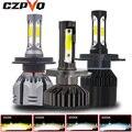 CZPVQ Mini Car Headlight H4 H7 Canbus LED H11 H1 H8 9005 9006 880 881 H3 H9 3000K 4300K 6500K 8000K LED Bulb Car Fog Light 12V