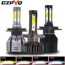 цены на CZPVQ  Mini Car Headlight H4 H7 Canbus LED H11 H1 H8 9005 9006 880 881 H3 H9 3000K 4300K 6500K 8000K LED Bulb Car Fog Light 12V  в интернет-магазинах
