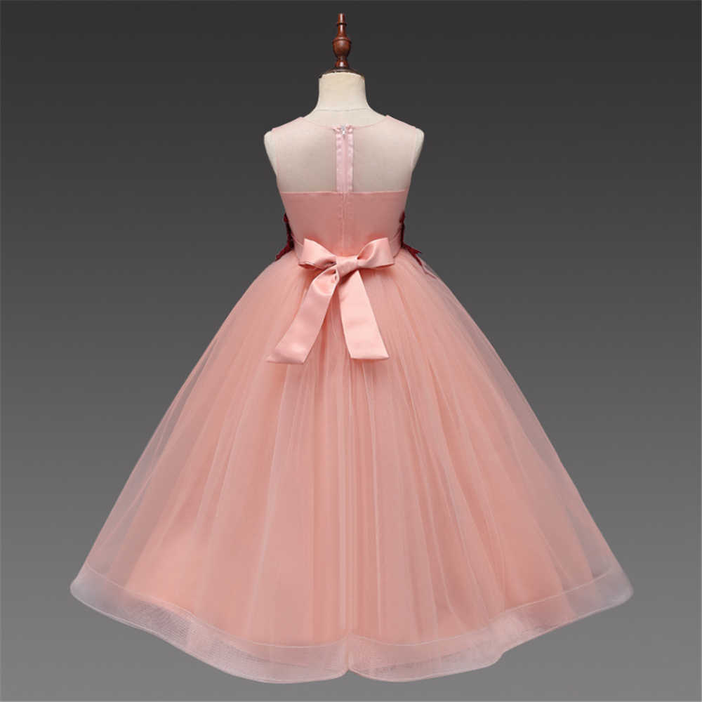 Boutique Floral Girls Elegant Communion Dresses Age 12 13 14 15 Years  Teenagers Sleeveless Wedding Party Prom Gown Formal Dress