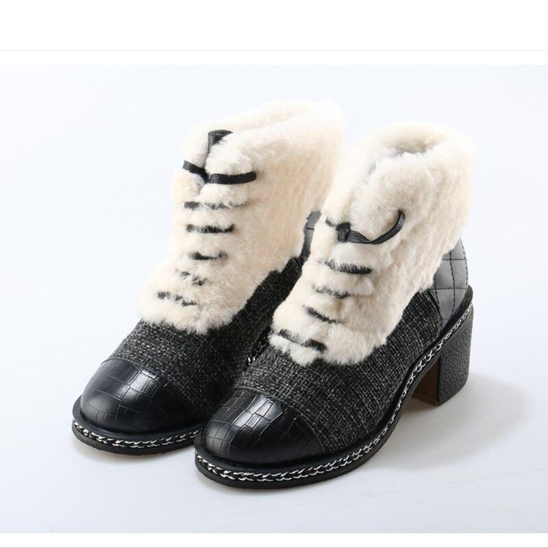 Avant Hiver Chaussures Blanc Luxe Femmes Lacent Med Étoiles As Pic Chaussons Bottes Nouvelle Chaud Court Couleur Marque Super Mixte De Talon Neige Fourrure OiuPkXZT
