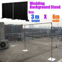 3M 6M Wedding Backdrop Stand Pipe Stend For Backdrop Curtain Quick Backdrop Pipe Kit Wholesale Wedding