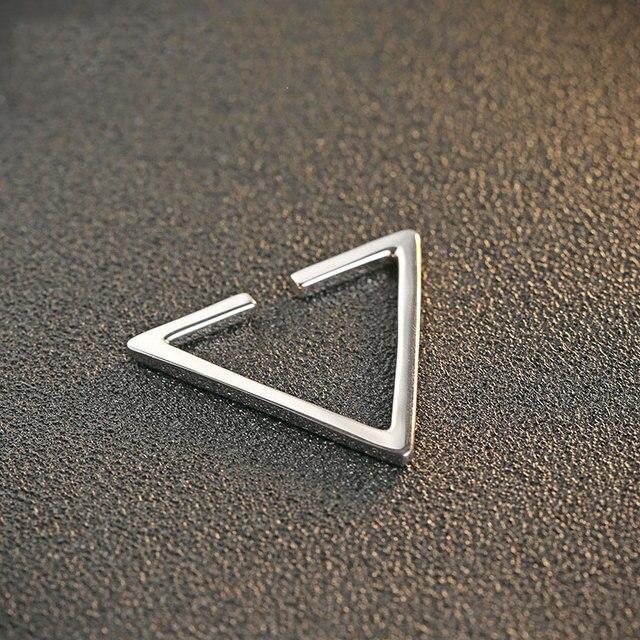 1 Piece 925 Silver Earring Triangle Women 100% S925 Sterling Silver boucle d'oreille Hoop Earrings christmas Gift