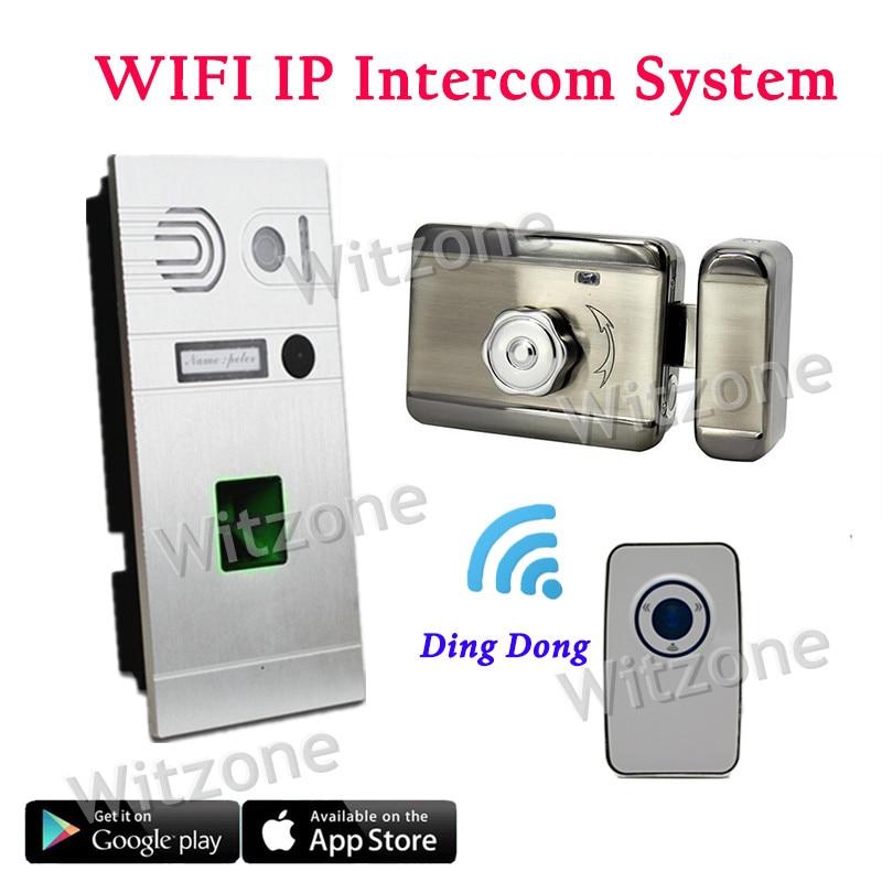 Good Quality Wireless WIFI IP Video Door Phone System / Door Access Control System Fingerprint Doorbell+Magnetic Lock+Door Chime biometric fingerprint access controller tcp ip fingerprint door access control reader