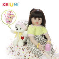 KEIUMI 24 Inch Stuffed Dolls Lovely Reborn Baby Girl Silicone Doll True To Life Baby Doll Reborn Toy Mom and Kids DIY Baby Gifts