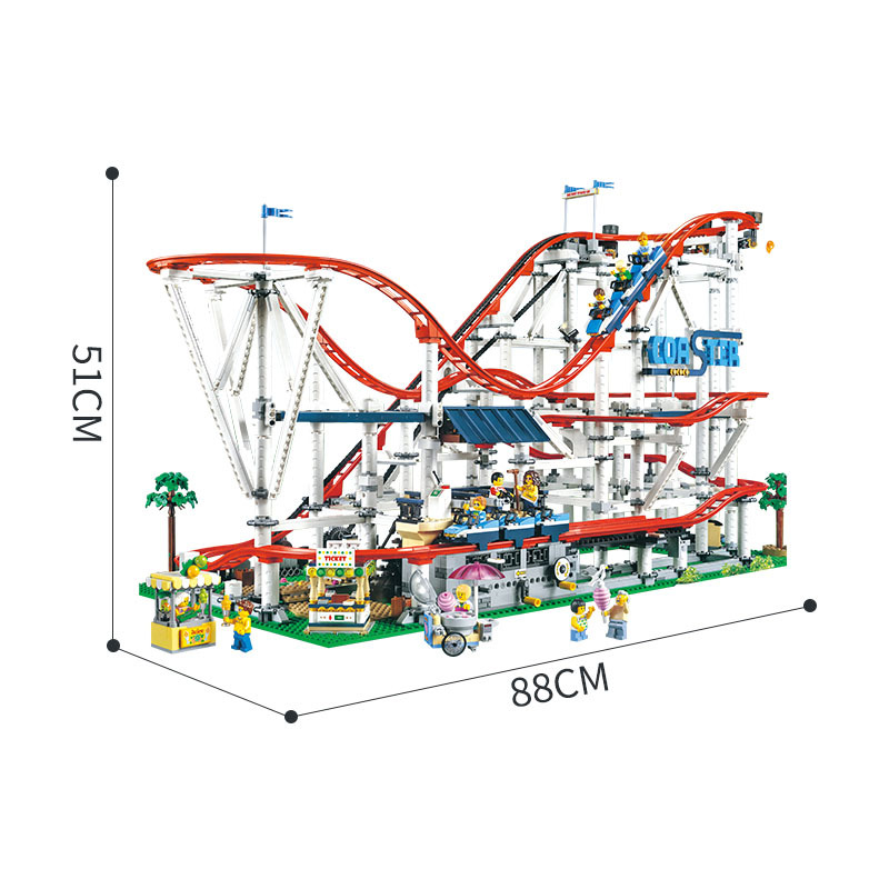 SLPF Children Educational Toys Space Roller Coaster Playground Large Building Blocks Brick Building Model Compatible Legoing I08 in Blocks from Toys Hobbies