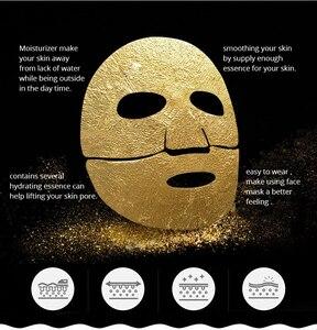 Image 5 - 24K Gold Kollagen Gesichts Blatt Maske Öl Steuer Mitesser Entferner Gesichts Maske Feuchtigkeits Erhellen Hautpflege Koreanische Kosmetik