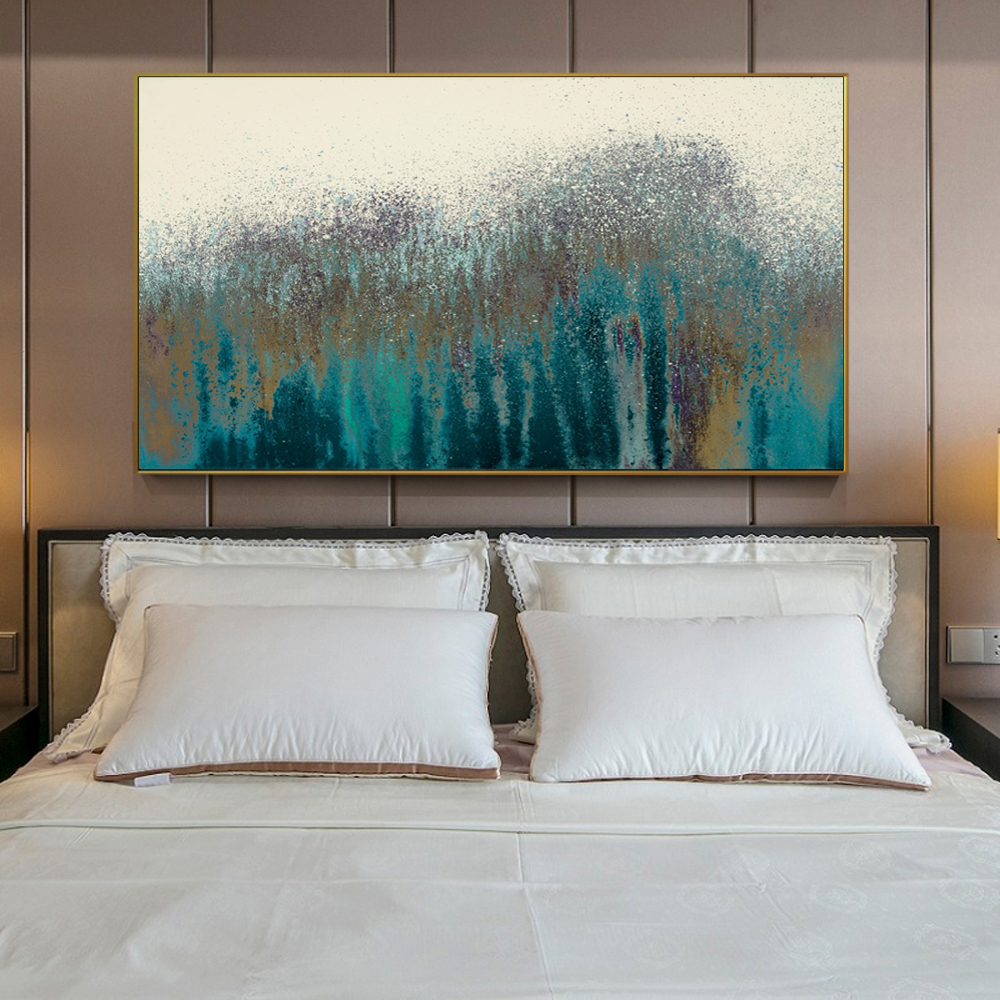 <font><b>Turquoise</b></font> Abstract Wall Art Canvas Prints Vintage Poster Modern Abstract Canvas Paintings On The Wall For <font><b>Bed</b></font> Room Cuadros Decor