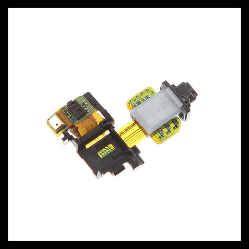 Audio Jack Flex Cable For Sony Xperia Z3 D6633 D6603 D6653 light Proximity sensor flex cable For sony z3 Microphone Flex cable