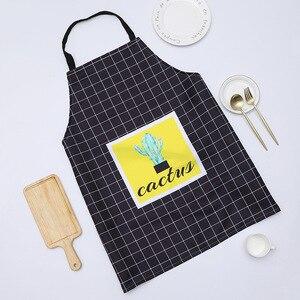 Image 3 - 1 Ps Chic Kaktus Muster Unisex Kochen Esszimmer Küche BBQ Restaurant Reinigung Wasserdichte Kellnerin Hausarbeit Schürzen Dropshipping